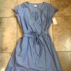 NWT A New Day Stripe Cotton Faux Wrap Dress, XXL